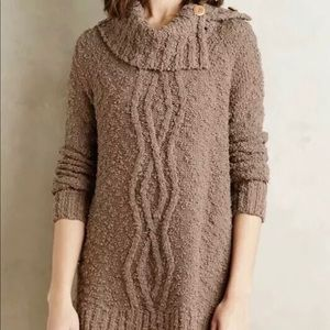 Anthropologie Moth Cowl Neck Cable Knit Sweater
